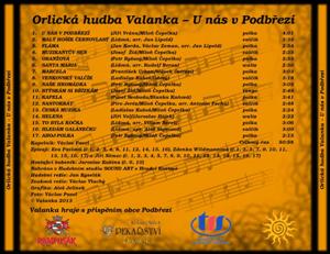 Valanka CD - U nás v Podbřezí - seznam skladeb